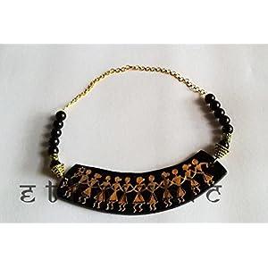 EthniChic Warli Hand painted Necklace