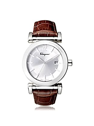 Salvatore Ferragamo Men's FP1940014 Salvatore Brown/Silver Leather Watch