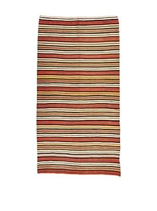 Design Community By Loomier Teppich Kilim Caucasico rot/mehrfarbig 190 x 363 cm