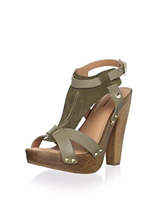 Madison Harding Women's Colter T-Strap Sandal (Army)