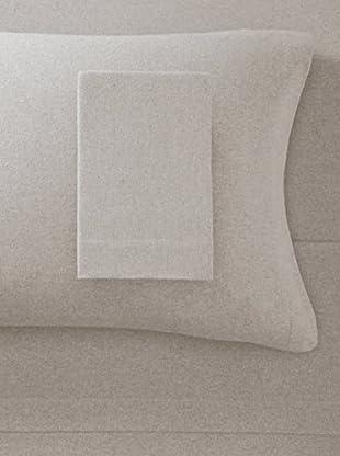 La Rochelle Tan Heather Solid Flannel Sheet Set (Tan)