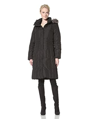 Calvin Klein Women's Knee Length Down Coat (Black)