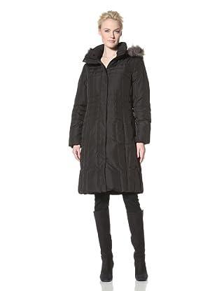 Calvin Klein Women's Knee Length Down Coat (Black)