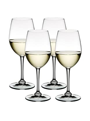 Nachtmann Set of 4  Bianco and Rosso All Purpose White Wine Glass, Boxed