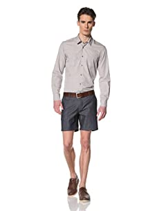 Brent Wilson The Basics Men's Tailored Short with Single Back Pocket Flap (Raw)