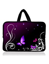 "Purple Butterfly 6"" 7"" 7.85"" inch tablet Case Sleeve Carrying Bag Cover with handle for Apple iPad mini/Samsung GALAXY Tab P3100 P6200/Kindle Paperwhite/Kindle Touch/Kindle fire/Kindle fire HD 7 inch/Acer Iconia A100/Google Nexus 7/Noble NOOK Color"