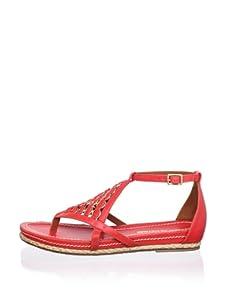 Pour La Victoire Women's Kara Sandal (Coral Red)