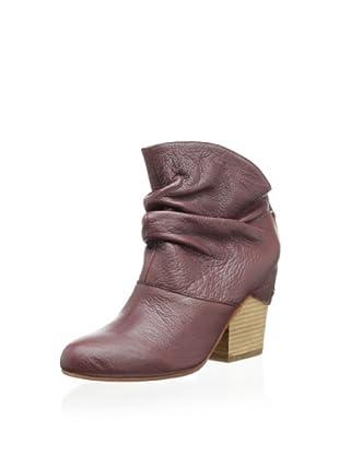 Fiel Women's Stanton Ruched Ankle Bootie (Crimson)