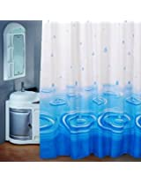 Blue Water Drop Waterproof Shower Curtain Bathroom Decor(180*180cm)