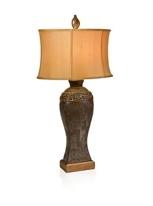 Aqua Vista Pebble Slope Table Lamp, Brown