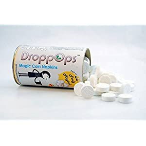 Droppops tablet magic napkins Lemon Fragrance Pack of 100 napkins + Handy Tube Free