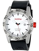 red line Men's RL-50045-02-BK-ST Mileage Automatic White Dial Black Silicone Band Watch