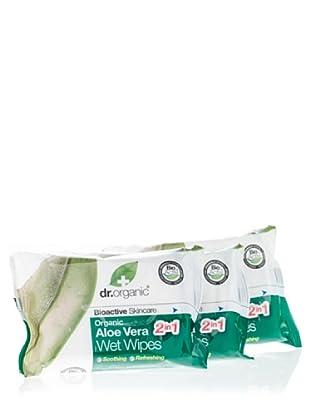 Dr.Organic Set 3 Toallitas Multiusos Refrescantes (20 u) de Aloe Vera