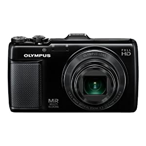 Olympus Traveller SH-25MR 16MP Point and Shoot Digital Camera with 12.5x Optical Zoom (Black)