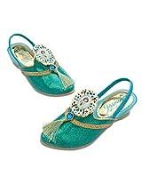 Disney Princess Jasmine From Aladdin Dress up Pretend Play Halloween Costume Accessory Slippers Shoes Girls Shoe Size 7-8