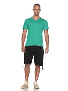 Plain Jane Homme Men's Casanova V-Neck T-Shirt (Sun Green)
