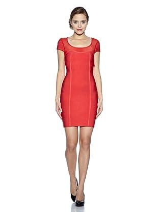 Corizzi & Absolu Vestido Canesú Tul Cóctel (Rojo)