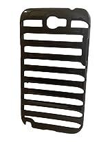 Samsung galaxy note 2 II N7100 NEW LADDER SHAPE THIN ZIGZAG CASE SLIM BACK COVER CASE BLACK