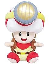 "Sanei Super Mario Series Sitting Pose Captain Toad Plush Toy, 6.5"""