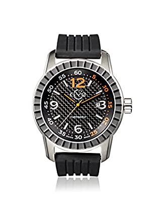 GV2 by Gevril Men's 9303 Lucky 7 Black Rubber Watch