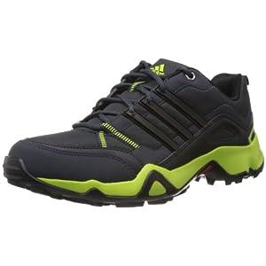 adidas Men's Woran Black and Green Mesh Multisport Training Shoes - 10 UK