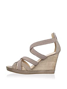 Geox Women's Sibilla Wedge Sandal (Sand)