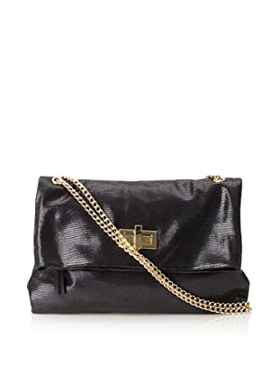 Pietro Alessandro Women's The Marluy Shoulder with Chain Strap (Black)