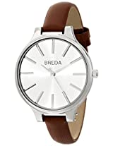 Breda Women's 1650G Analog Display Quartz Brown Watch