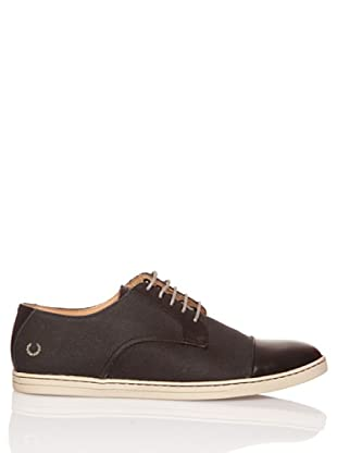 Fred Perry Deportiva Higgs Waxed Canvas/Leather (Negro)
