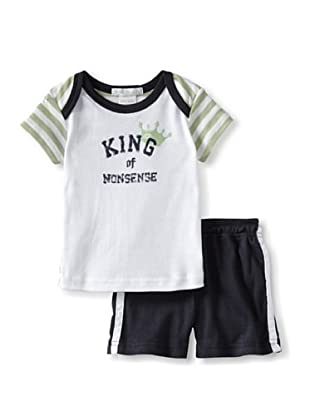 Mish Mish Baby Knights Tee & Short (Lime Olive)