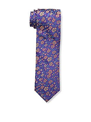 Bruno Piattelli Men's Slim Floral Tie, Purple Orange