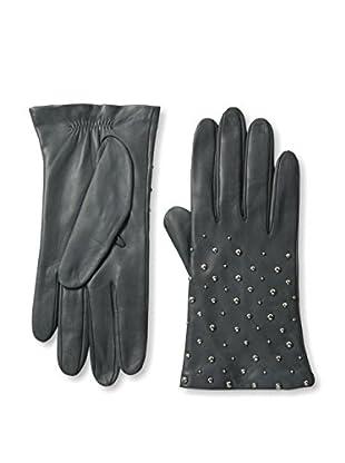 Portolano Women's Studded Leather Gloves (Iron Gray/Silver Studs)