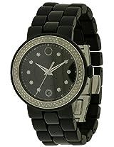Movado Cerena Diamond Black Ceramic Ladies Watch 0606787