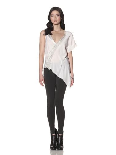 Foley + Corinna Women's Eske Asymmetric Silk Blouse (Ice)