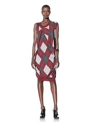 ALTUZARRA Women's Wool Sweater Dress (Burgundy)