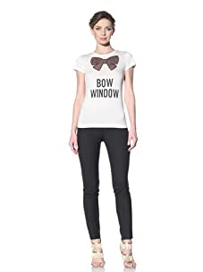 Moschino Cheap and Chic Women's Bow Window Tee (Ivory)