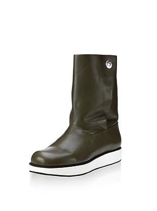 Jil Sander Navy Women's Mid Boot (Military/White/Black)