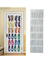 24 Pockets Plastic Storage Bag Door Hang Bags Organizer Closet Shoes Space Saver