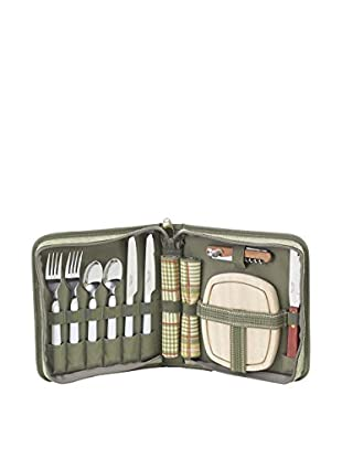 Picnic at Ascot Hamptons Portable Picnic Deluxe, Olive/Tweed