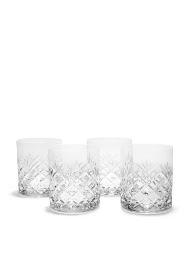 Rogaska Set of 4 Jardin Double Old-Fashioned Glasses (Clear)