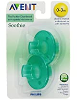 Philips 2 Pack AVENT Soothie Pacifier Green 0-3 Months