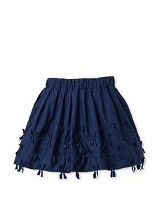 Simonetta Girl's Tied Trim Skirt (Blue)