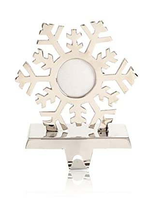 Shiraleah Snowflake Mantel Stocking Holder (Silver)