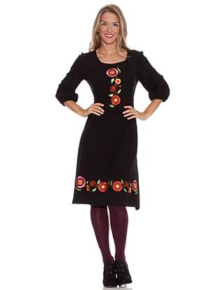 Divina Providencia Vestido Bordado (Negro)