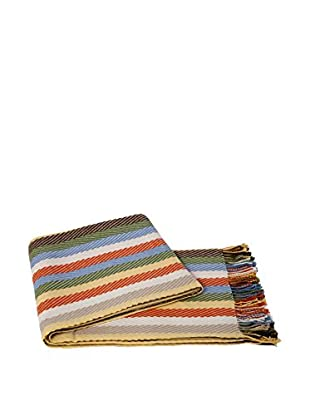 a & R Cashmere Cashmere & Wool Blend Chevron Throw, Multi Color