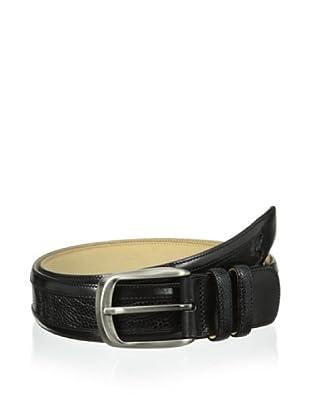 Mezlan Men's Ostrich Belt (Black)