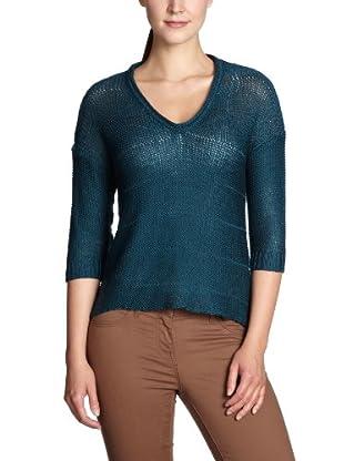 ONLY Pullover, V-Ausschnitt (Grün)