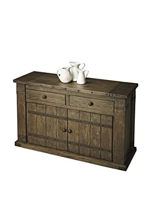 Butler Specialty Company Mountain Lodge Console Cabinet, Rustic Wood