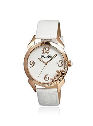 Bertha Women's BR2003 Daisy White Leather Watch