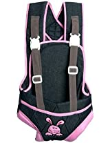 Advance Baby Charcoal Gray with Pink Border Baby Carrier (Gray/Pink)